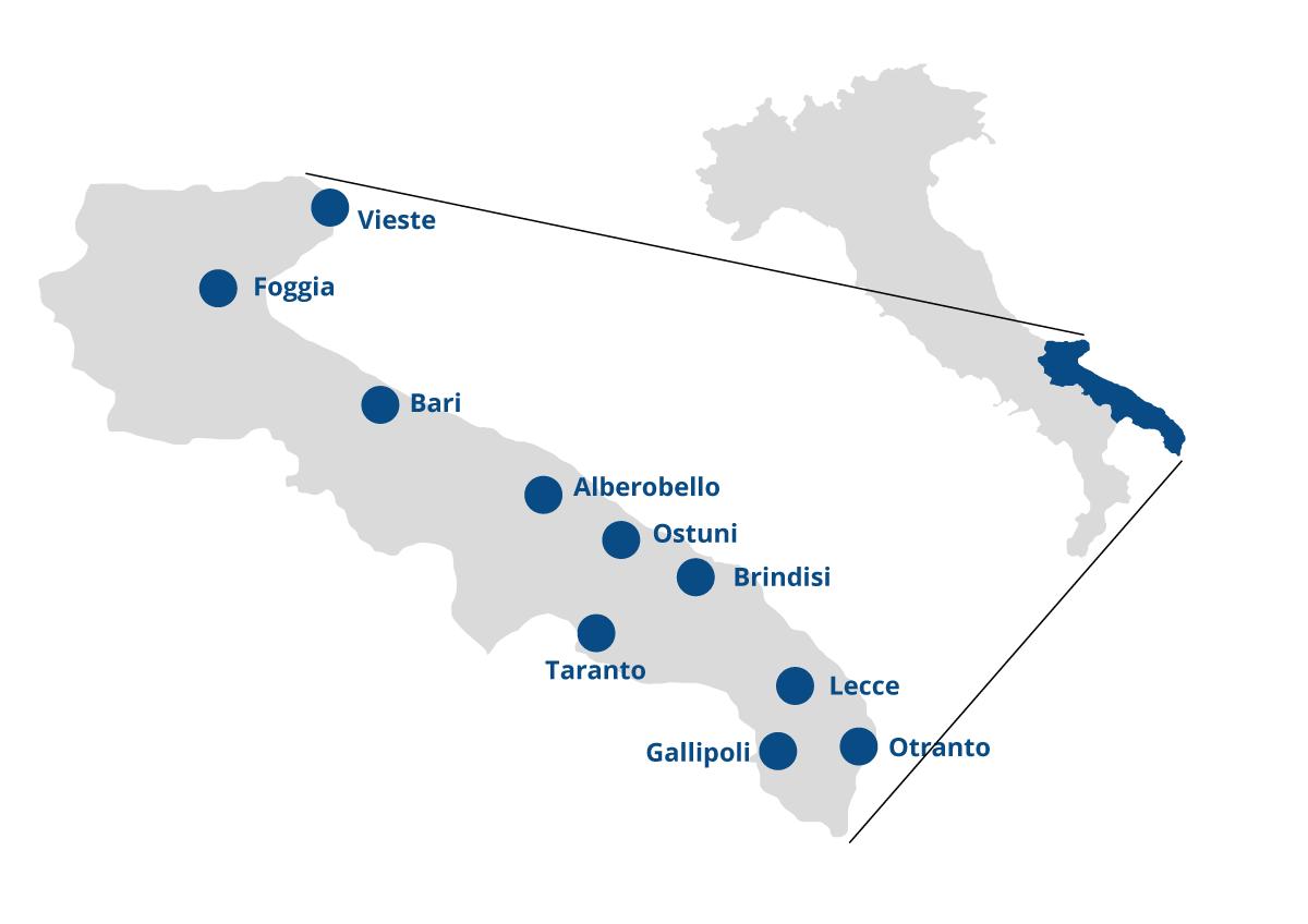 Apulien Karte Strände.ᐅ Apulien In Italien Das Macht Den Südöstlichen Teil Italiens So